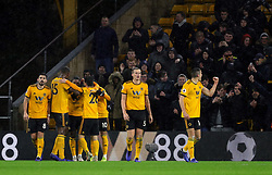 Wolverhampton Wanderers' Ivan Cavaleiro celebrates scoring his side's second goal of the game during the Premier League match at Molineux, Wolverhampton.