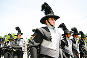 The Oregon Marching Band, collectively known as Shadow Armada, is seen on the day of Summerfest in Oregon, Wisconsin on June 24, 2012.