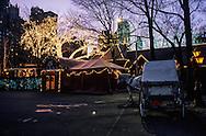 New York. lighting on - tavern on the green - former sheepfold in Central park. /  La - tavern on the green - cette ancienne bergerie transformée en restaurant, se couvre de lumière féerique la nuit venue. New York