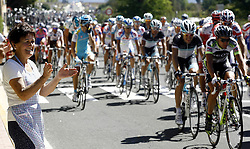 29.08.2011, Andalusien, ESP, LA VUELTA 2011, Stage 17, im Bild A cycling fan look at the group during the stage of La Vuelta 2011 between Faustino V and Pena Cabarga.September 7,2011. EXPA Pictures © 2011, PhotoCredit: EXPA/ Alterphoto/ Paola Otero +++++ ATTENTION - OUT OF SPAIN/(ESP) +++++