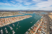 Aerial Stock Photo Of Newport Bay, Balboa Island And Lido Island