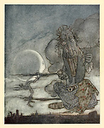 The Moon and her Mother Aesop's fables Published in 1912 in London by Heinemann and in  New York by Page Doubleday Illustrated by Arthur Rackham,