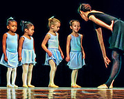 Six year olds at ballet class with Miss Claire.