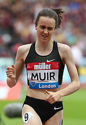 July 22, 2018 - London, United Kingdom - Laura Muir of Great Britain and Northern Ireland Compete in the 1 Mile Women Millicent Fawcett during the Muller Anniversary Games IAAF Diamond League Day Two at The London Stadium on July 22, 2018 in London, England. (Credit Image: © Action Foto Sport/NurPhoto via ZUMA Press)