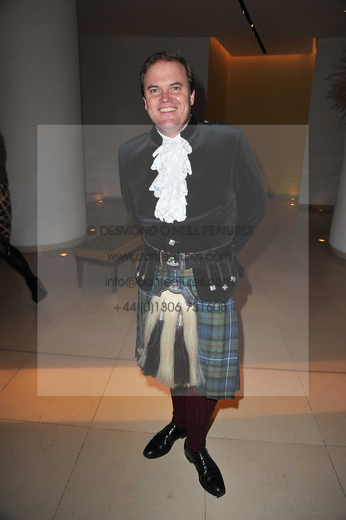 LORD DALMENY at a Burns Night dinner in aid of cancer charity CLIC Sargent held at St.Martin's Lane Hotel, London on 25th January 2011.