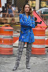 Rita Ora filming a music video in the Meat Packing District in New York City, NY, USA on October 5, 2017. Photo by ABACAPRESS.COM    610097_033 New York City Etats-Unis United States