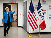 26 NOVEMBER 2019 - KNOXVILLE, IOWA: US Senator ELIZABETH WARREN (D-MA) walks into a campaign event in Knoxville Tuesday. Sen. Warren hosted a community meeting at the Sprint Car Hall of Fame and Museum in Knoxville, IA. She is running to be the Democratic candidate for the US Presidency in the 2020 election. Iowa hosts the first selection event of the presidential election season. The Iowa caucuses are February 3, 2020.                 PHOTO BY JACK KURTZ