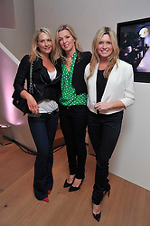 Left to right, ADELA KING, TARA SONING and TINA HOBLEY at a party to celebrate the announcement of the 20 shortlisted designers for the UK final of the Triumph Inspiration Award 2011 held at the home of Charlotte Stockdale, 8 Francis Street, London SW1 on 31st March 2011.