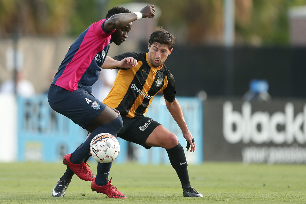 Vincenzo Candela (12). <br /> Lamar Hunt US Open Cup: Tormenta FC vs. Charleston Battery in the second round at MUSC Health Stadium in Charleston, S.C. on Wednesday, May 16, 2018.<br /> Zach Bland/Charleston Battery