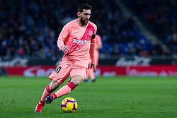 December 8, 2018 - Barcelona, BARCELONA, Spain - 10 Leo Messi of FC Barcelona during the Spanish championship La Liga football match between RCD Espanyol v FC Barcelona on December 08, 2018 at RCD Stadium stadium in Barcelona, Spain. (Credit Image: © AFP7 via ZUMA Wire)