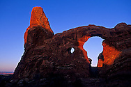 First light on Turret Arch, Windows Section Arches National Park, UTAH