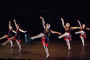 Santa Clara University Department of Theatre & Dance students perform during the dress rehearsal of Spring Dance Festival at Santa Clara University's Fess Parker Studio Theatre in Santa Clara, California, on April 11, 2014. (Stan Olszewski/SOSKIphoto)