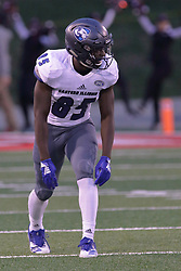 NORMAL, IL - September 08: Nick Atoyebi during 107th Mid-America Classic college football game between the ISU (Illinois State University) Redbirds and the Eastern Illinois Panthers on September 08 2018 at Hancock Stadium in Normal, IL. (Photo by Alan Look)