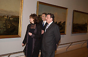 Rt hon Tony Blair MP and Chancellor Gerhard Schroder tour the galleries with Cherie Blair at the  open ing of Masterpieces from Dresden at the Royal Academy, London. 12 March 2003. © Copyright Photograph by Dafydd Jones 66 Stockwell Park Rd. London SW9 0DA Tel 020 7733 0108 www.dafjones.com