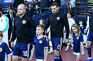 Scotland forward Steven Naismith (10) (Heart of Midlothian)  and Scotland defender Stephen O'Donnell (2) (Kilmarnock) during the Friendly international match between Scotland and Portugal at Hampden Park, Glasgow, United Kingdom on 14 October 2018.