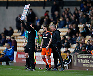 Mark McNulty of Sheffield Utd prepares to come on during the English League One match at Vale Park Stadium, Port Vale. Picture date: April 14th 2017. Pic credit should read: Simon Bellis/Sportimage