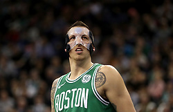 Boston Celtics' Daniel Theis during the NBA London Game 2018 at the O2 Arena, London. PRESS ASSOCIATION Photo. Picture date: Thursday January 11, 2018. See PA story BASKETBALL London. Photo credit should read: Simon Cooper/PA Wire. RESTRICTIONS: Editorial use only, No commercial use without prior permission
