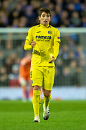 Santiago Caseres (#5) of Villarreal CF during the Europa League group stage match between Rangers FC and Villareal CF at Ibrox, Glasgow, Scotland on 29 November 2018.