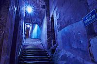 France, Cher (18), Bourges, centre historique, escalier Mirebeau // France, Cher (18), Bourges, historic center, escalier Mirebeau stairs