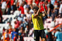 Rudy Gestede of Aston Villa celebrates winning their opening game - Mandatory by-line: Jason Brown/JMP - Mobile 07966 386802 08/08/2015 - FOOTBALL - Bournemouth, Vitality Stadium - AFC Bournemouth v Aston Villa - Barclays Premier League - Season opener