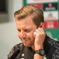 10.09.2020, PK-Raum in der Ostkurve des wohninvest Weserstadions , Bremen, GER, Pressekonferenz Werder Bremen vor dem Pokalspiel Jena<br /> <br /> Pressekonferenz  Florian Kohfeldt (Trainer SV Werder Bremen) und Frank Baumann (Geschäftsführer Fußball Werder Bremen) standen  Rede und Antwort.<br /> <br /> im Bild Florian Kohfeldt (Trainer SV Werder Bremen)<br /> <br /> im Bild / picture shows <br /> <br /> <br /> <br /> <br /> Foto © nordphoto / Kokenge