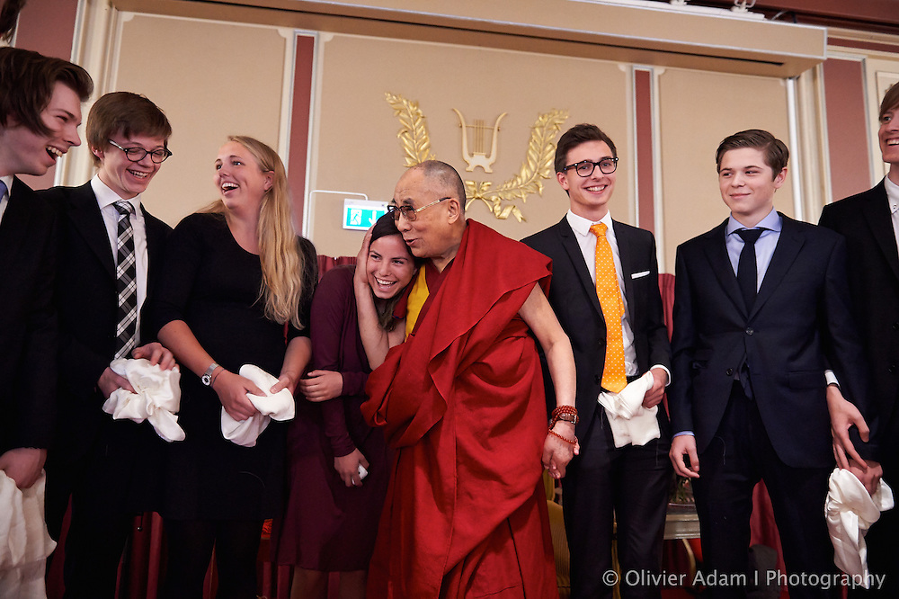 Meeting with students in Grand Hotel. Dalai Lama