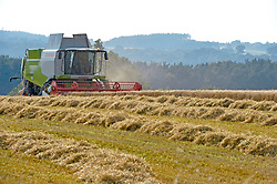 File photo dated 10/09/15 of a combine harvester in a field near Langwathby in Cumbria, as farmers will be paid for delivering benefits for nature and the countryside after Brexit instead of receiving subsidies for the amount of land they farm, Michael Gove has indicated.
