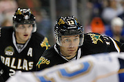 Dallas Stars left wing Ray Whitney (13) waits for a face-off against the St. Louis Blues at the American Airlines Center in Dallas, Texas, on January 26, 2013.  (Stan Olszewski/The Dallas Morning News)