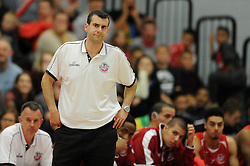 Bristol Flyers head coach, Andreas Kapoulas - Photo mandatory by-line: Dougie Allward/JMP - Mobile: 07966 386802 - 18/10/2014 - SPORT - Basketball - Bristol - SGS Wise Campus - Bristol Flyers v Durham Wildcats - British Basketball League