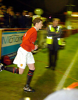 Photo: Jed Wee.<br /> Manchester United Reserves v Liverpool Reserves.<br /> 05/12/2005.<br /> <br /> Manchester United's Ole Gunnar Solskjaer runs onto the pitch for his first appearance after a lengthy injury layoff.