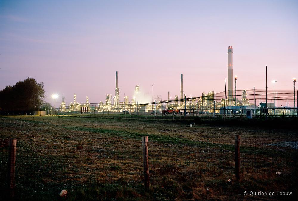 Industry road, BP oil refinery on background. © Holland Kodak Ektar serie