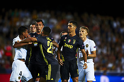 September 19, 2018 - Valencia, Spain - fight between Cristiano Ronaldo and Jeison Murillo during Group H match of the UEFA Champions League between Valencia CF and Juventus at Mestalla Stadium on September 19, 2018 in Valencia, Spain. (Credit Image: © Jose Breton/NurPhoto/ZUMA Press)