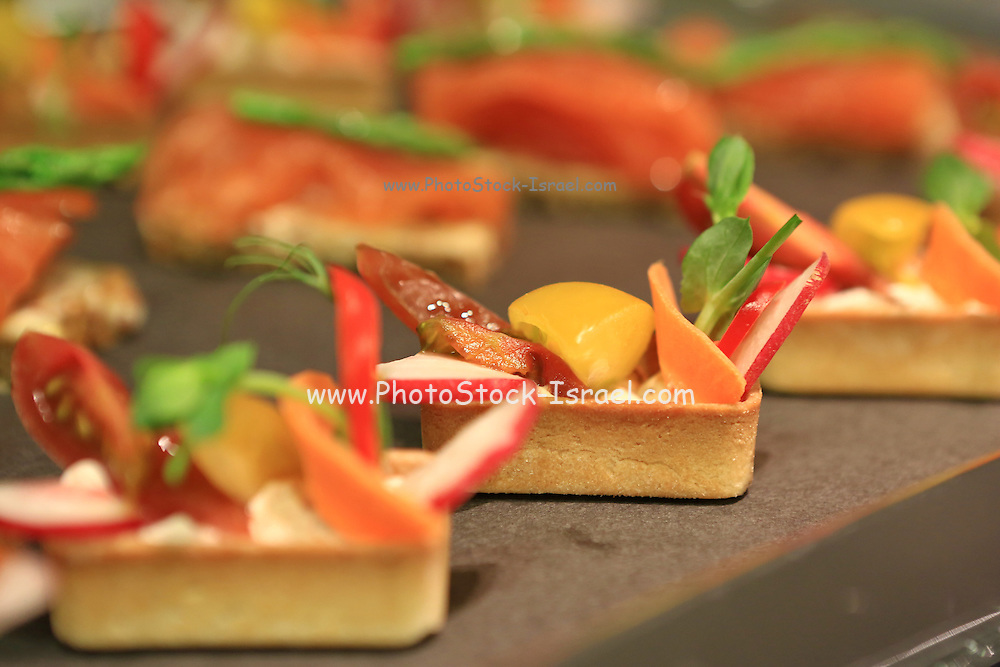 Vegetable snacks at a banquet