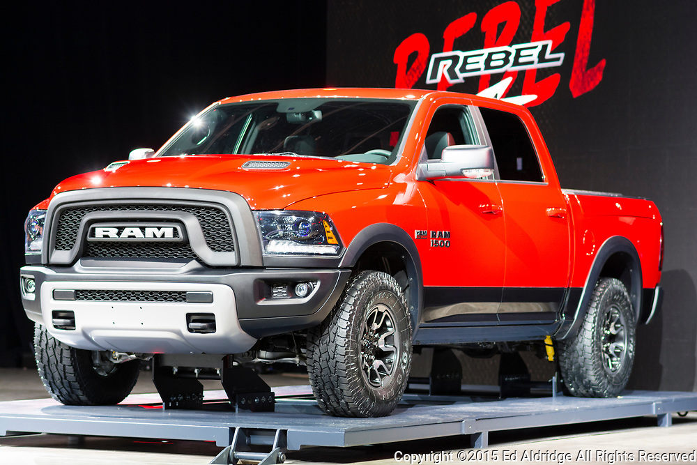 DETROIT, MI, USA - JANUARY 13, 2015: RAM Rebel on display during the 2015 Detroit International Auto Show at the COBO Center in downtown Detroit.