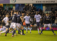 Football - 2018 / 2019 Emirates FA Cup - Fourth Round: Millwall vs. Everton<br /> <br /> Murray Wallace (Millwall FC) forces home the winning goal in the dying seconds of the game at The Den.<br /> <br /> COLORSPORT/DANIEL BEARHAM