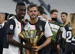 May 19, 2019 - Turin, ITA, Italy - Blaise Matuidi and Miralem Pjani? during Serie A match between Juventus v Atalanta, in Turin, on May 19, 2019  (Credit Image: © Loris Roselli/NurPhoto via ZUMA Press)