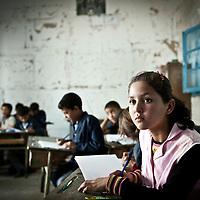 Outskirts of Sidi Amor Bouhajla, Tunisia 27 October 2011<br /> Scene in a rural school in Tunisia.<br /> Photo: Ezequiel Scagnetti