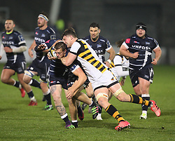 General view of the match action - Mandatory by-line: Jack Phillips/JMP - 04/11/2016 - RUGBY - AJ Bell Stadium - Sale, England - Sale Sharks v Wasps - The Anglo-Welsh Cup