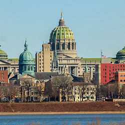 The Harrisburg Skyline as seen from the Susquehanna River.