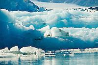A fresh iceberg that has just calved off of Bear Glacier, Kenai Fjords National Park, Alaska