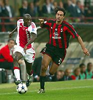 Milano 16/9/2003 <br />Champions League <br />Milan Ajax 1-0 <br />Hatem Trabelsi (Ajax) Alessandro Nesta (Milan)<br />Fot Andrea Staccioli Graffiti