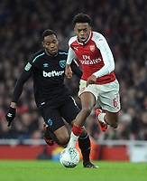 Football - 2017 / 2018 Carabao (EFL/League) Cup - Quarter-Final: Arsenal vs. West Ham United<br /> <br /> Joe Willock of Arsenal, at The Emirates.<br /> <br /> COLORSPORT/ANDREW COWIE