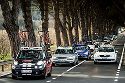 Cars during the UCI Class 1.2 professional race 4th Grand Prix Izola, on February 26, 2017 in Izola / Isola, Slovenia. Photo by Vid Ponikvar / Sportida