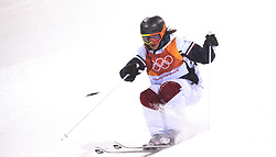 February 11, 2018 - Pyeongchang, South Korea - JAELIN KAUF of the United States on her second and final run at the Womens Moguls finals Sunday, February 11, 2018 at Phoenix Snow Park at the Pyeongchang Winter Olympic Games.  Photo by Mark Reis, ZUMA Press/The Gazette (Credit Image: © Mark Reis via ZUMA Wire)