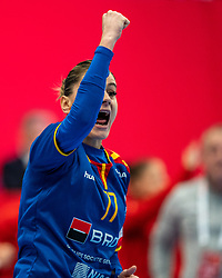 Ana Maria Iuganu of Romania during the Women's EHF Euro 2020 match between Poland and Romania at Sydbank Arena on december 05, 2020 in Kolding, Denmark (Photo by RHF Agency/Ronald Hoogendoorn)