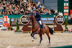 DREHER Hans-Dieter (GER), Arko Junior<br /> Leipzig - Partner Pferd 2020<br /> Championat von Leipzig<br /> Springprfg. mit Stechen, international<br /> Höhe: 1.50 m<br /> 18. Januar 2020<br /> © www.sportfotos-lafrentz.de/Stefan Lafrentz