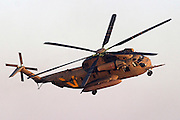 Israeli Air force helicopter, Sikorsky CH 53 in flight
