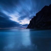 Sunset at Bunes Beach, Moskenesoy, Lofoten Islands, Norway