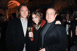 Left to right, JACK O'SHEA and CAROLE SILLER and  HAMISH McALPINE at a party to celebrate the 135th anniversary of The Criterion restaurant, Piccadilly, London held on 2nd February 2010.