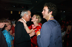 Left to right, HUGH VAN CUTSEM, ROSE VAN CUTSEM and HUGH VAN CUTSEM JNR. at the Boodles Boxing Ball in aid of the sports charity Sparks  organised by Jez lawson, James Amos and Charlie Gilkes held at The Royal Lancaster Hotel, Lancaster Terrae London W2 on 3rd June 2006.<br /> <br /> NON EXCLUSIVE - WORLD RIGHTS